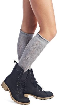 Wet Seal Ruffled Crochet Knee-High Socks