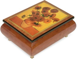 "Forzieri It's a Small World - ""Sunflowers"" Musical Jewelry Box"