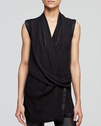 Helmut Lang Top - Pebble Silk Wrap