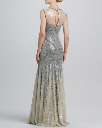 Erin Fetherston Erin by Sequined Lace-Overlay Mermaid Gown
