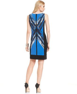 Alfani Petite Dress, Sleeveless Print Sheath