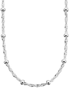 "Giani Bernini Sterling Silver Necklace, 18"" Small Bead Singapore Chain"