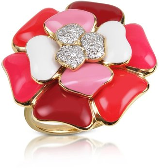 Rosato Rose - Diamond and 18K Gold Pink Flower Ring