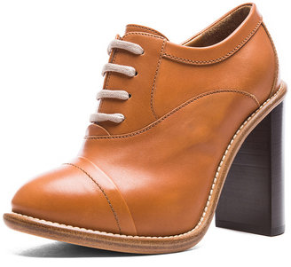 Chloé Leather Booties in Yummy Cookie