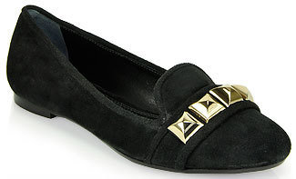 Tory Burch Asher - Smoking Slipper in Black