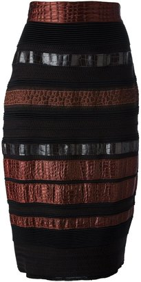 Gianfranco Ferre Pre Owned paneled pencil skirt