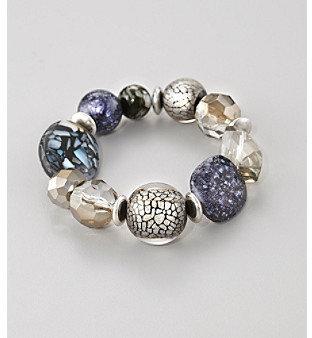 Laura Ashley Gray Stretch Bracelet