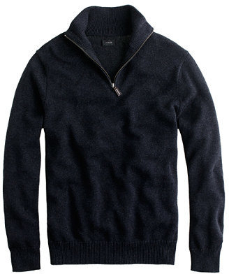J.Crew Cotton-cashmere half-zip sweater