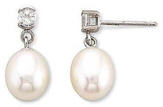 JCPenney Cultured Freshwater Pearl Earrings 10K Gold