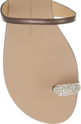 Giuseppe Zanotti Carolina crystal-embellished metallic leather sandals