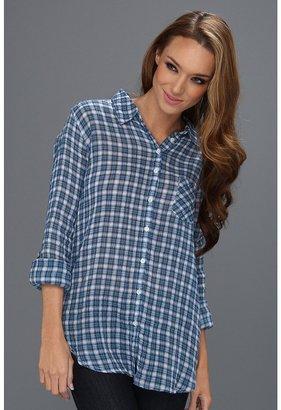 C&C California Multi Plaid Crinkle L/S Shirt (Imperial Blue) - Apparel