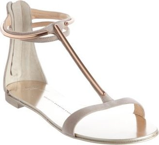 Giuseppe Zanotti Metal T-Strap Sandal