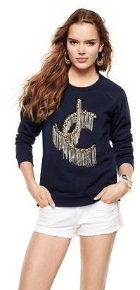 Juicy Couture Fringe Logo Crewneck Pullover