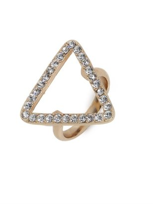 BaubleBar Gold Open Triad Ring