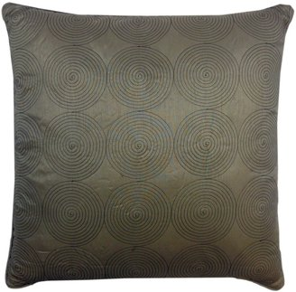 """Victoria Classics Circle Line 20"""" x 20"""" Feather Down Fill Pillow, Taupe"""