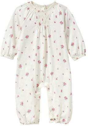 Gap Smocked floral one-piece