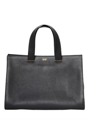 Giorgio Armani Medium Charniere Doree Leather Bag