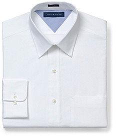 Tommy Hilfiger Men's White Long Sleeve Dress Shirt