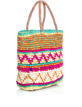 Sensi Studio Mini multicolour woven straw bag