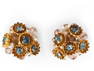 Miriam Haskell Sea Treasure Stud Earrings