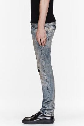 Diesel Blue patched Thanaz jeans