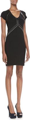 Nanette Lepore Dance Studded Wool Dress