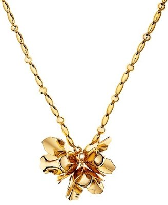 Juicy Couture Long Gold Flower Necklace