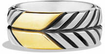 David Yurman Modern Chevron Band Ring with Gold