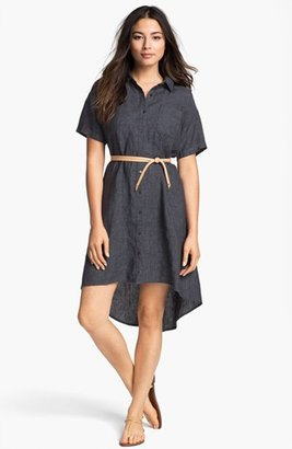 Eileen Fisher High/Low Linen Shirtdress