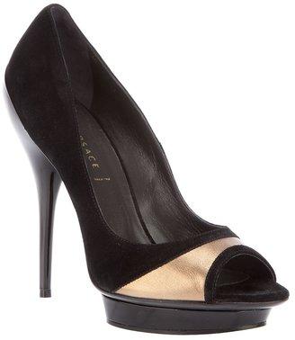Versace peep-toe pump