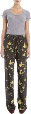 Etoile Isabel Marant Madjo Bird Print Pajama Pant