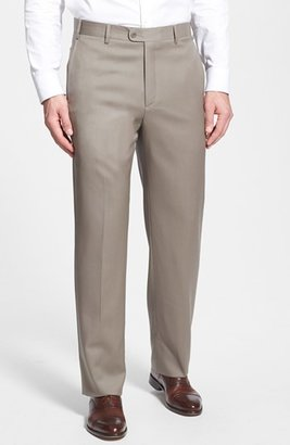 Men's Zanella 'Todd' Flat Front Trousers $295 thestylecure.com