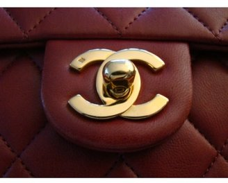 Chanel excellent (EX Red Lambskin Mini Flap Bag