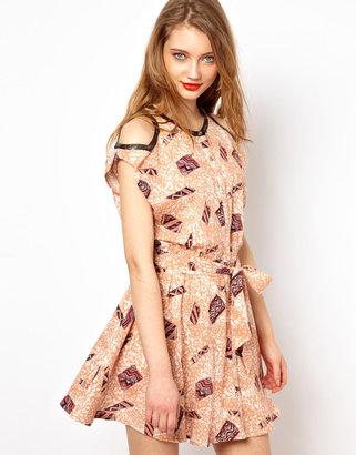 Viva Vena Judd Cut Out Shoulder Dress