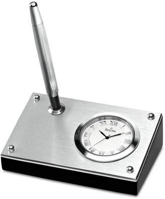 Bulova Executive Collection Clock with Pen B7246