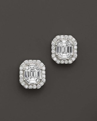 Bloomingdale's Certified Fancy Cut Diamond Stud Earrings in 14K White Gold, 1.50 ct. t.w. - 100% Exclusive