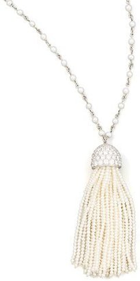 "Ivanka Trump Seed Pearl Tassel Necklace, 36"" $14,500 thestylecure.com"