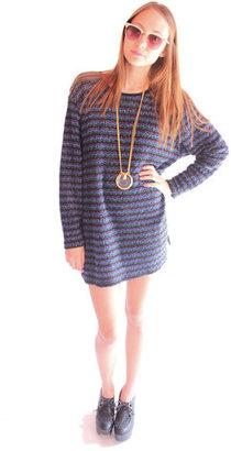 Fashion Bug Slouchy Knit Stripe Sweater