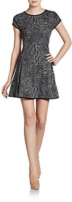 Romeo & Juliet Couture Paisley Jacquard Knit Dress