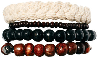 Asos Rope and Wood Bracelet Pack