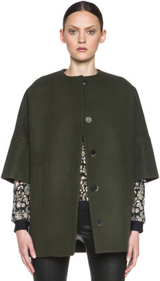 MSGM Wool Coat in Army