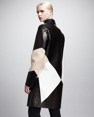 Givenchy Patchwork Leather Coat