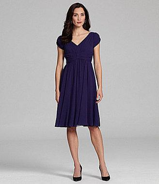 Suzi Chin Flowy Chiffon Dress