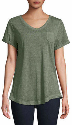 Style&Co. STYLE & CO. V-Neck Burnout Tee