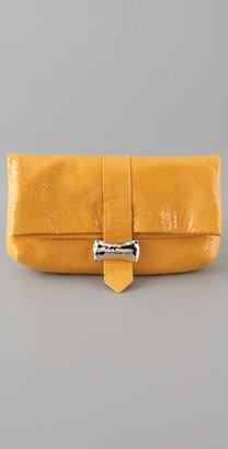 Lauren Merkin Handbags Hudson Glossy Snake Clutch