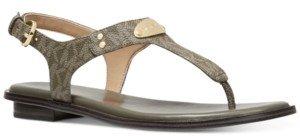 Michael Kors Michael Plate Flat Thong Sandals Women's Shoes