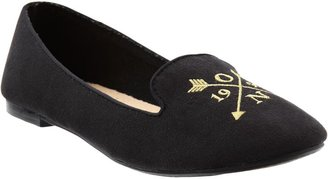 Old Navy Women's Embroidered-Icon Sueded Flats