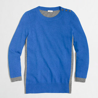 J.Crew Factory Factory colorblock elbow-patch sweater
