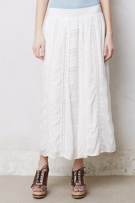 Anthropologie Embroidered Calliope Maxi Skirt
