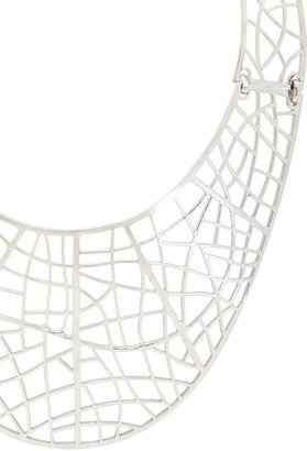 BCBGMAXAZRIA Filigree Plate Necklace